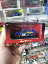 Load image into Gallery viewer, Autoart 1/64 Subaru New Age Impreza WRC 2002 P.Solberg P.Mills #11 Winners of Rally Great Britain