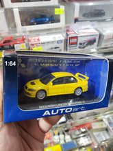 Load image into Gallery viewer, Autoart 1/64 Mitsubishi Lancer Evo VII Yellow