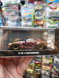 LB Performance 1/64 Nissan GT-R R35 Duck Tail Brown