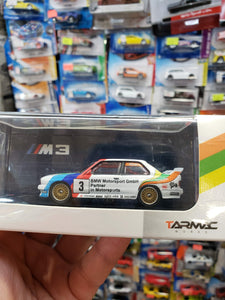 Tarmac Works 1/64 BMW E30 Macau Guia Race 1990 2nd Place Emanuele Pirro Mr. Juicy #3
