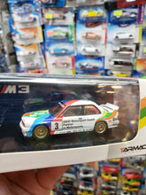Load image into Gallery viewer, Tarmac Works 1/64 BMW E30 Macau Guia Race 1990 2nd Place Emanuele Pirro Mr. Juicy #3