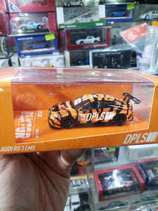 Tarmac Works x DPLS 1/64 Audi RS3 LMS BLKTGR - Orange