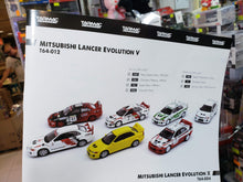 Load image into Gallery viewer, Complete Set of 7 Tarmac Works 1/64 Mitsubishi Lancer Evo V ( Free Shipping Worldwide !!! )