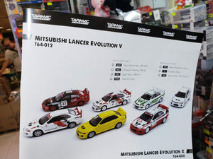 Complete Set of 7 Tarmac Works 1/64 Mitsubishi Lancer Evo V ( Free Shipping Worldwide !!! )