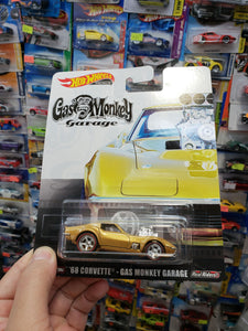 Hot Wheels Premium Retro 2019 Gas Monkey Garage 68 Corvette Real Riders