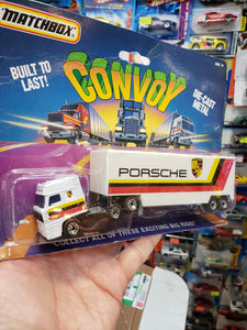 Matchbox Convoy Big Rigs Porsche Cab Trailer