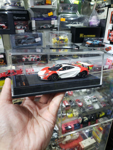Peako Resin 1/43 Mclaren P1 GTR White Red HK Macau Exclusive Zoomer Minature Models