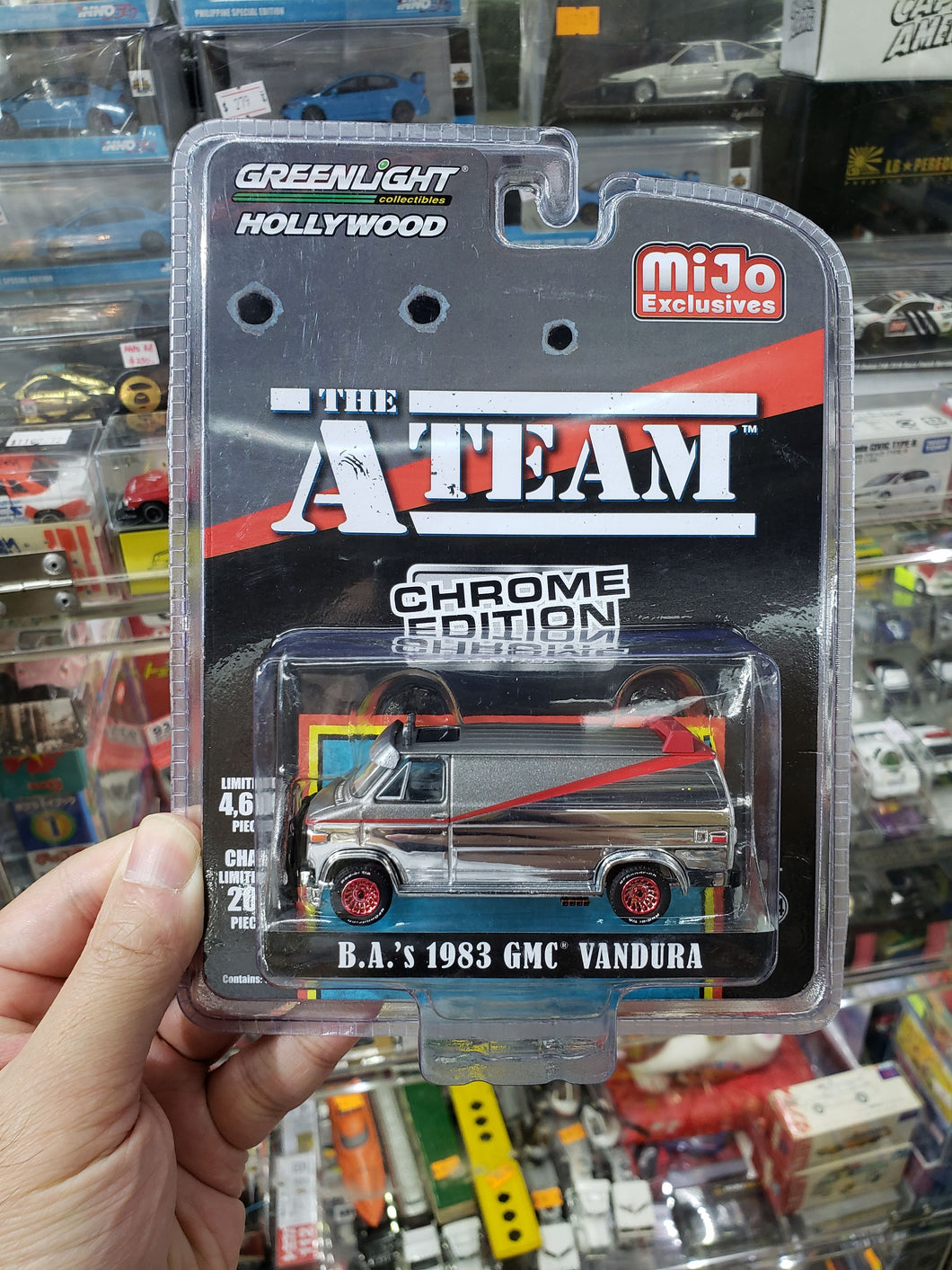 Greenlight Hollywood Mijo Exclusive The A Team Chrome Edition B.A.'s 1983 GMC Vandura