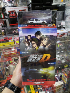 Set of 5 Kyosho 1/64 Initial D Toyota AE86 x2 Mazda RX7 x 2 Nissan GTR R32 Movie Edition 4 ( Free Shipping Worldwide !!! )