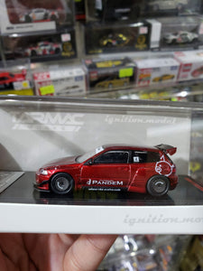 Ignition Model ig 1/64 PANDEM CIVIC EG6 Red Metallic Tarmac Works Exclusive