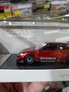 Ignition Model ig 1/64 PANDEM CIVIC EG6 Red Metallic Tarmac Works Exclusive ( Free Shipping Worldwide !!! )