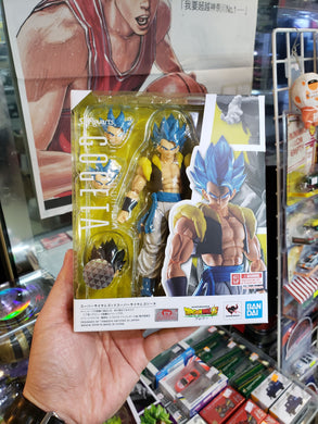 Bandai S.H.Figuarts Dragon Ball SS Saiyan God Blue SSGSS Gogeta Figure