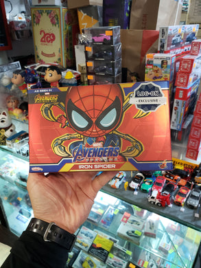 HOT TOYS Avengers End Game Iron Spider Bobbie-Head Cosbaby Hong Kong LOG ON Exclusive