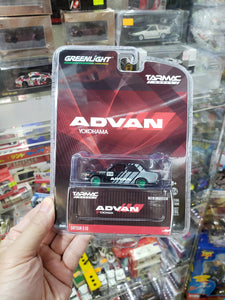 Greenlight x Tarmac Works 1/64 Advan Yokohama Datsun 510 Chase Green Machine Greenie