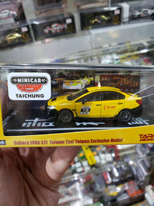 Tarmac Works 1/64 Subaru WRX STI Taiwan Taxi Taichung Mini Car Festival Dinner Exclusive ( Free Shipping Worldwide !!! )