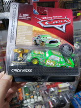 Load image into Gallery viewer, Disney Pixar Cars 1/55 Mattel Chick Hicks with Piston Cup Rubber Tires