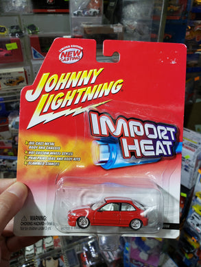 Johnny Lightning 1/64 Honda Civic Custom Red Import Heat