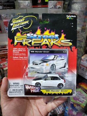 Johnny Lightning 1/64 Honda Civic Custom 99 White Import Heat