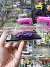 Load image into Gallery viewer, 1:64 Veloce Hand Built Resin Model Ferrari 458 Liberty walk Purple GT Wing 1 of 50 pcs