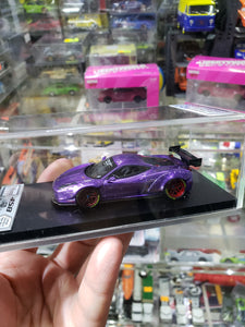 1:64 Veloce Hand Built Resin Model Ferrari 458 Liberty walk Purple GT Wing 1 of 50 pcs