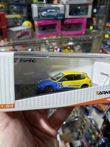 Tarmac Works 1/64 Honda Civic EG6 Group A Racing Spoon Racing #95