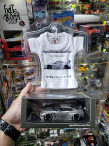 Ignition Model ig 1:43 Nissan GT-R R35 Pandem Silver 1158 with Little T-Shirt ( Free Shipping Worldwide !!! )