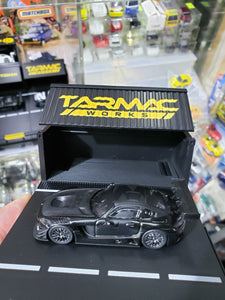 Tarmac Works 1/64 4A Mercedes Benz AMG GT3 Like Black #4 Black
