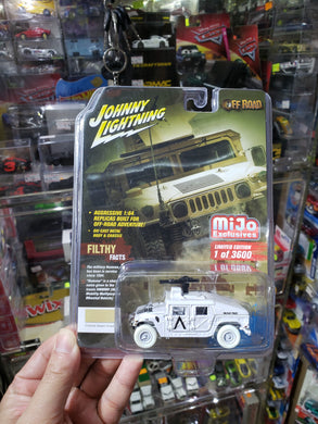 WHITE CHASE Johnny Lightning 1/64 Military Army Police Humvee HUMMER 7158 MIJO