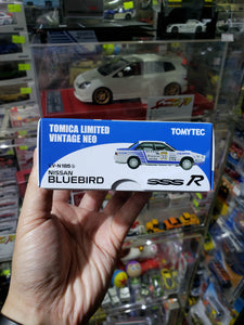 Tomica Limited Vintage 1/64 Neo Nissan Bluebird Full Time 4WD Nissan Bluebird SSS-R 1988 All Japan Rally LV-N185b TLV Tomytec