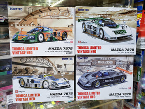 Set of 4 Tomica Limited Vintage Neo MAZDA 787B Lemans No.55 18 201 Test Car TLV Tomytec