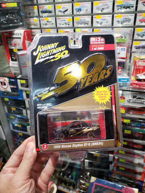 Johnny Lightning 1/64 #3 1999 Nissan Skyline GT-R BNR-R34