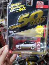 Load image into Gallery viewer, Johnny Lightning 1/64 #5 1991 Honda CRX White Lightning Chase