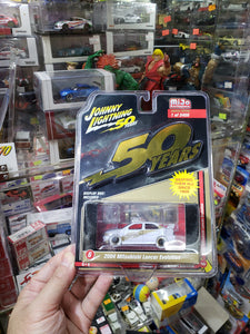Johnny Lightning 1/64 #6 Mitsubishi Lancer Evolution White Lightning Chase