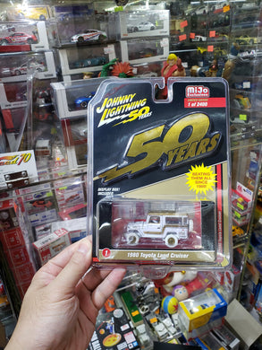 Johnny Lightning 1/64 #1 1980 Toyota Land Cruiser White Lightning Chase