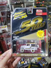 Load image into Gallery viewer, Johnny Lightning 1/64 #1 1980 Toyota Land Cruiser White Lightning Chase