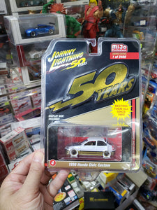 Johnny Lightning 1/64 #4 1998 Honda Civic Custom White Lightning Chase