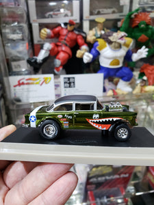 Hot Wheels 1/64 RLC 55 Chevy Bel Air Gasser WWII Flying Tigers ( Free Shipping Worldwide !!! )