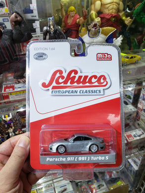 Schuco 1/64 Mijo Exclusive Raw Chase Porsche 911 ( 991 ) Turbo S