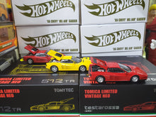 Load image into Gallery viewer, Set of 3 Tomica Limited Vintage Neo 1/64 Ferrari 512 TR Red & Yellow and Testarossa Red