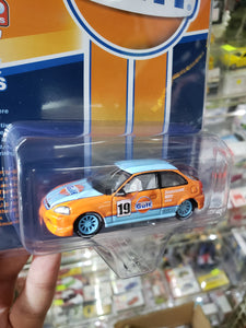 Johnny Lightning 1/64 Mijo Exclusives Fueled Facts Gulf Honda Civic EK9