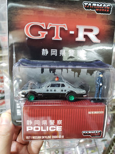 Greenlight x Tarmac Works 1:64 1971 Nissan Skyline 2000 GT-R Chase Green Machine Greenie