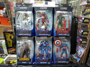 Marvel Legends Built A Figure Set of 6 Thor Iron Patriot Heimdall Vision Captain America Valkyrie Ironman LXXXV