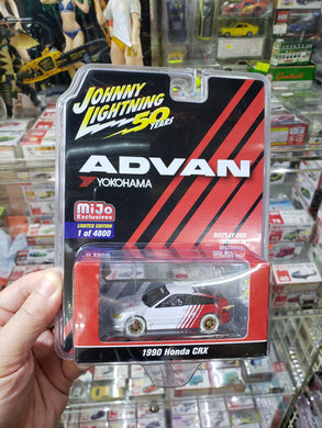 Johnny Lightning Advan Mijo 1990 Honda CRX White Lightning Chase