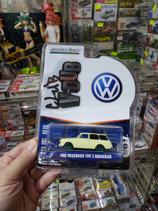 Greenlight 1/64 Norman Rockwell 1966 Volkswagen Type 3 Squareback Green Machine Chase
