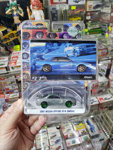 Greenlight 1/64 BFGoodrich Hobby Exclusive 2001 Nissan Skyline GT-R BNR34 Green Machine Chase
