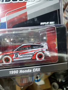 WHITE CHASE Johnny Lightning 1/64 50 Years Bridgestone Mijo 1990 Honda CRX