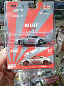 MiniGT 1/64 Liberty Walk #49 LB Works Nissan GTR Satin Silver Chase