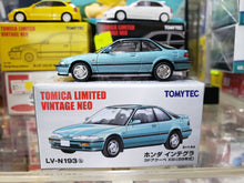 Load image into Gallery viewer, Tomica Limited Vintage NEO LV-N193b Honda Integra 3-door Coupe XSi 89 Ocean Blue