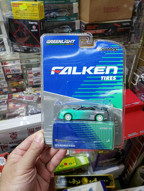 Greenlight x Tarmac Falken Tires 2015 Nissan GT-R R35 Green Machine Chase