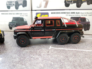 EraCar 06 1/64 Mercedes Benz G63 Amg 6x6 Red & Black